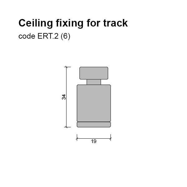 6mm Ceiling Fixing for Track Dimensions