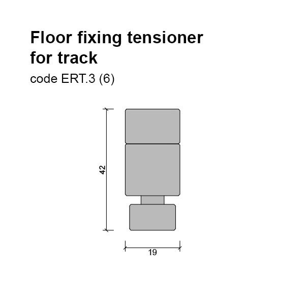 6mm Floor/base Fixing and Tensioner for Track Dimensions