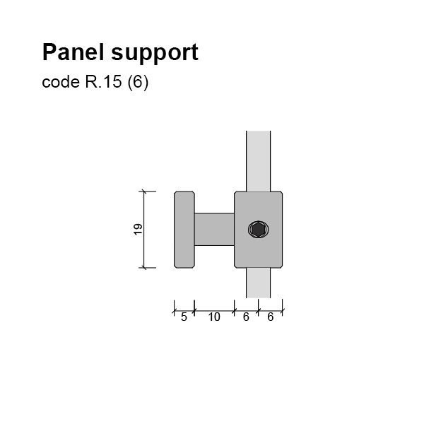 6mm Panel Support Dimensions