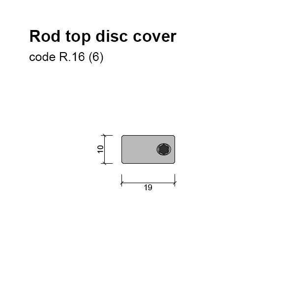 6mm Rod Top Cover Disc Dimensions
