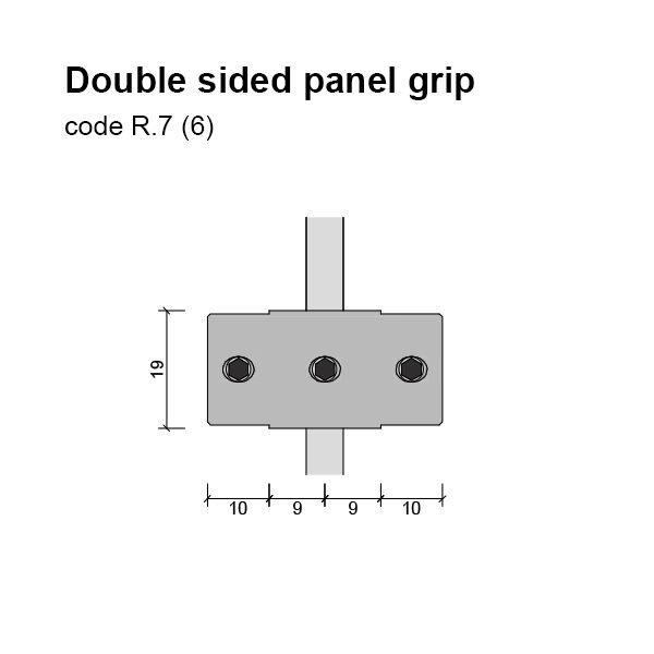 6mm Double Sided Panel Grip Dimensions