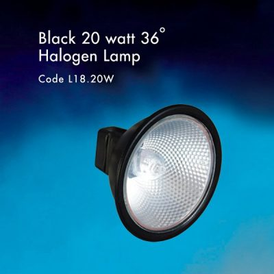 Black 20 watt Halogen lamp