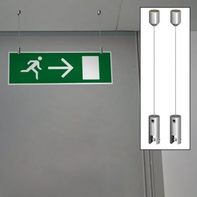 Ceiling fixed signage set