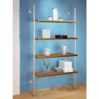 LS.4FTS Ladder Shelving with 4 Wood Veneered Shelves
