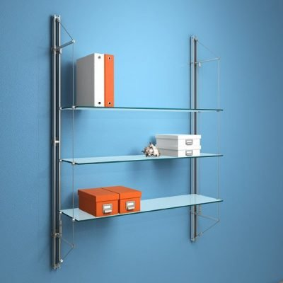 FIN.3SGS Fin Shelving with 3 Sandblasted Glass Shelves