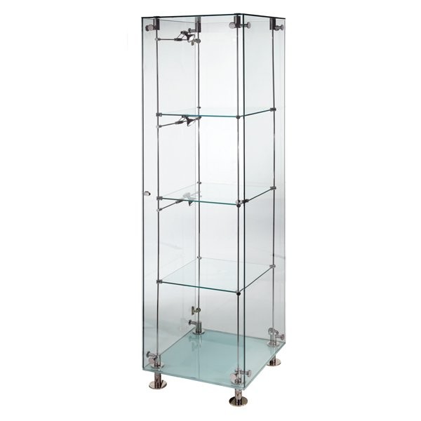 Patch style illuminated glass cabinet