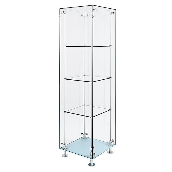patch style glass display cabinet