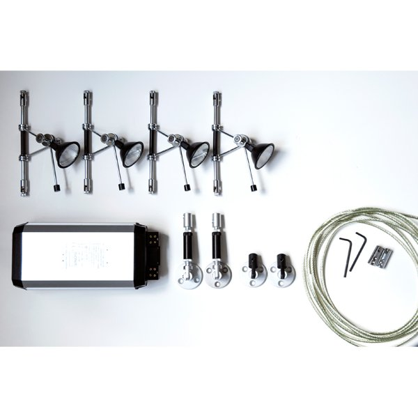Low voltage lighting kit with 4 lampholders