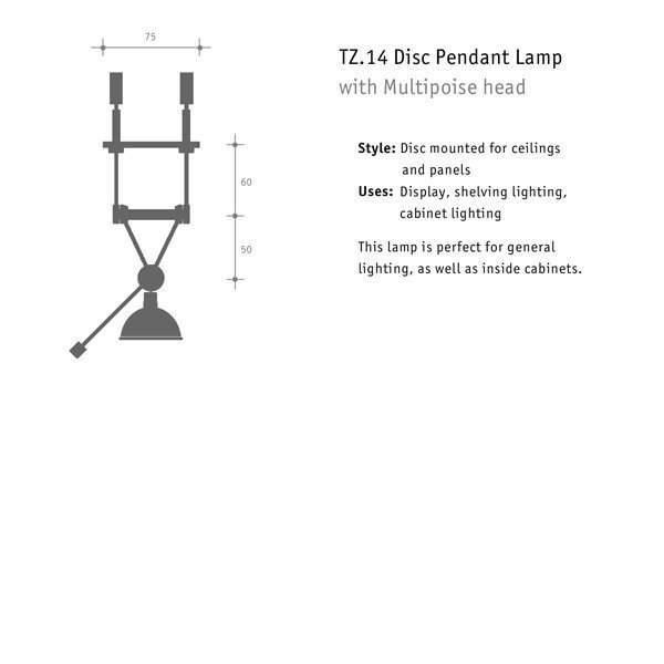 multipoise lamp dimensions