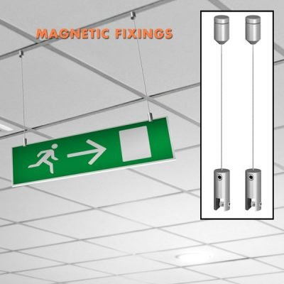 magnetic ceiling fixed signage set