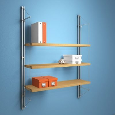 FIN.3FTS Fin Shelving with 3 Flat Timber Shelves