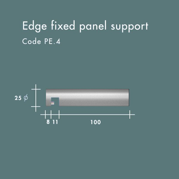 edge fixed panel support