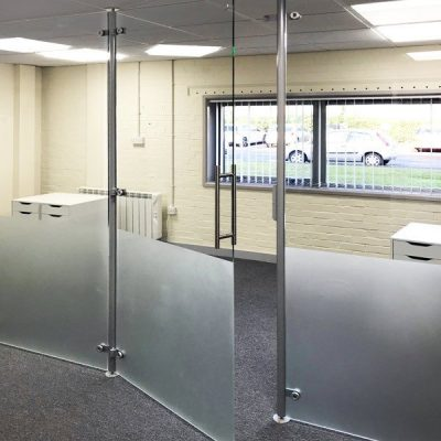 Covid tall barrier screens