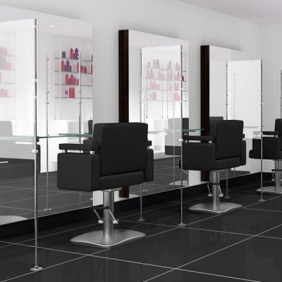 Hairdresser barrier screen